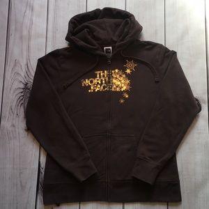 North Face women's zip up sweatshirt, XL